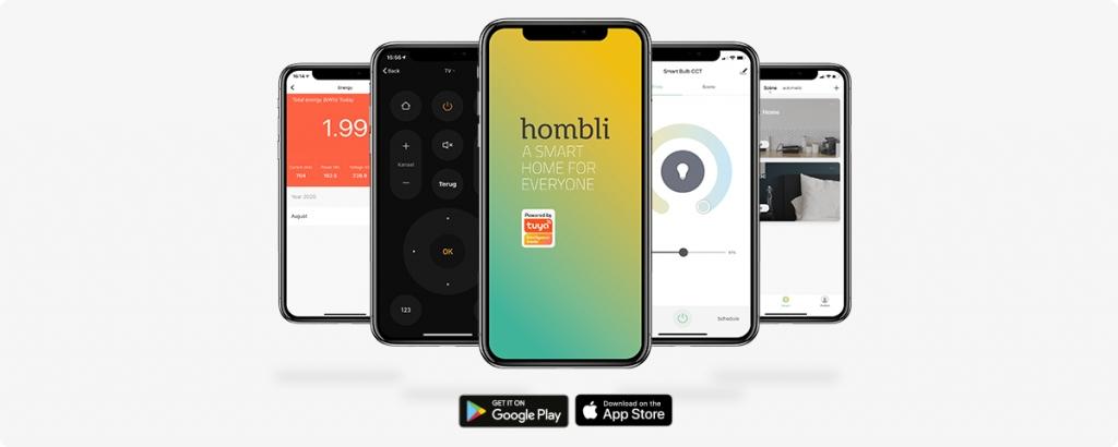 Control Hombli devices with the Hombli app