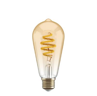 Filament lightbulb Edison Straight Tubular ST64